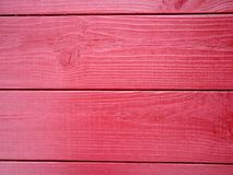 Red wood background in slats background stock photo