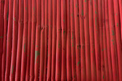 Red wood backgrounds. Red wood wall backgrounds in daytime Royalty Free Stock Photo