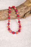 Red Wood Bead Necklace #2 Royalty Free Stock Photo