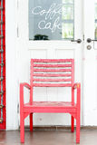 Red wood chair Stock Photography