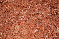 Red Wood Chips Royalty Free Stock Images