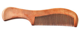 Red wood comb Royalty Free Stock Photography