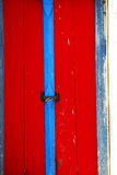 Red wood door Stock Photo