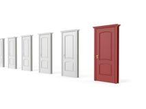 Red wood door Stock Image