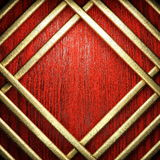 Red wood and gold Royalty Free Stock Image