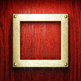 Red wood and gold background Royalty Free Stock Photos