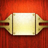 Red wood and gold background Royalty Free Stock Photo