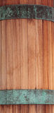 Red wood and green copper band. Textured background Royalty Free Stock Photo