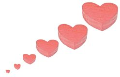 Red wood heart Stock Images