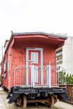 Red Wood Plank Caboose Royalty Free Stock Images