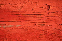 Red wood texture. With cracks Stock Images