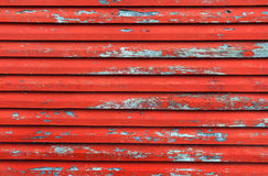 Red wood wall stock image