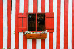 Red wood window Royalty Free Stock Images