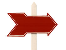 Red wooden arrow Stock Image