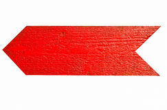 Red wooden arrow Royalty Free Stock Photo