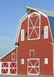Red wooden barn Stock Images