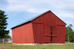 Red wooden barn Stock Image