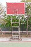 Red wooden basketball goal Stock Image
