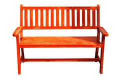 Free Red Wooden Bench Royalty Free Stock Images - 109407409