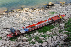 Red wooden boat Stock Photo