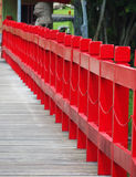 Red wooden Bridge. A red wooden bridge. At the Chinese Garden, Singapore Stock Photography