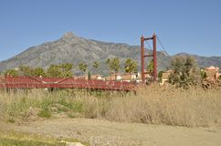 Red wooden bridge Royalty Free Stock Photography