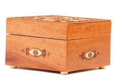 Red Wooden casket Stock Photo