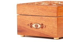 Red Wooden casket Royalty Free Stock Image