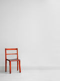 Red wooden chair Stock Photography