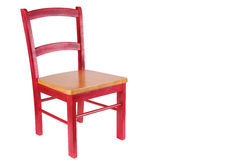 Red Wooden Chair Royalty Free Stock Images