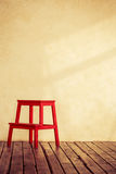 Red wooden chair Royalty Free Stock Photos