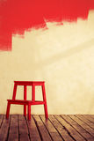 Red wooden chair Royalty Free Stock Photography