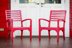 Red wooden chair Royalty Free Stock Photo