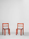 Red wooden chairs Royalty Free Stock Image