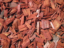 Red wooden chip Royalty Free Stock Photos
