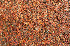 Red wooden chips used for mulching as background Stock Photography