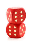 Red wooden dice Stock Image
