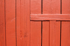 Red wooden door Royalty Free Stock Images