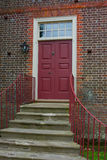 Red Wooden Door Royalty Free Stock Image