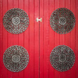Red wooden door background Royalty Free Stock Photo