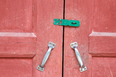 Red wooden door Stock Photography
