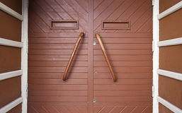 Red wooden door Stock Image