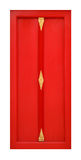 Red wooden door Stock Photo