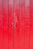 Red wooden door at old town. Songkhla province Thailand Stock Photography