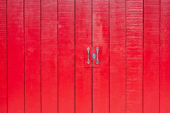 Red wooden door at old town. Songkhla province Thailand Royalty Free Stock Photo