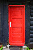Red wooden door Royalty Free Stock Photo