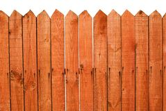 Red wooden fence