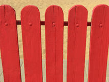 Red wooden fence Royalty Free Stock Image