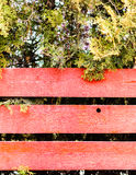Red wooden fence Stock Image