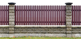 Red wooden fence isolated fragment Royalty Free Stock Photo